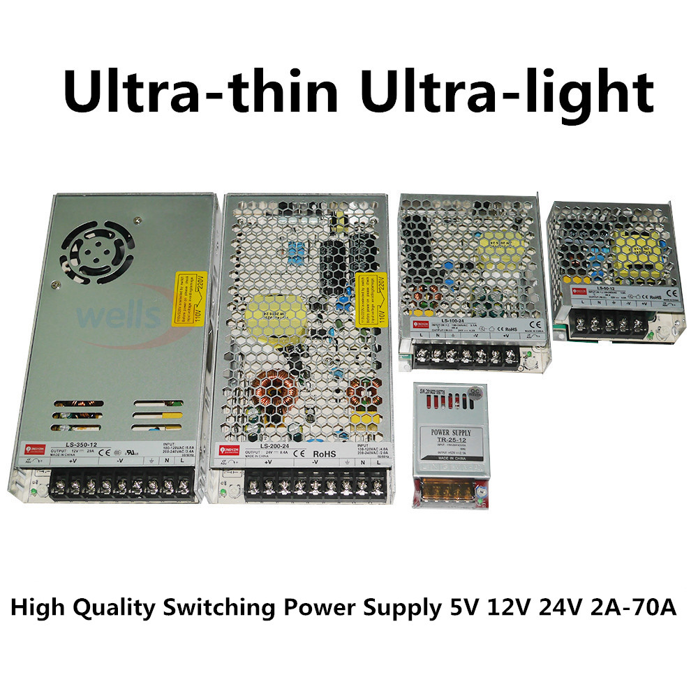 LED 12 <font><b>V</b></font> 24 <font><b>V</b></font> to 2A 4A 8A 10A 14A 16A 20A 29A power supply transformator Strip lights adapter Switching Power Supply image