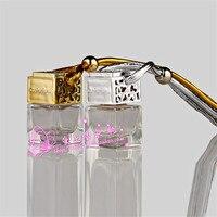 Beautiful Car Styling Perfume Pendant Lady Diamond Car Air Freshener Car Rear View Mirror Perfume Bottle