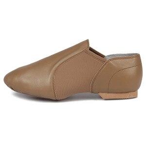 Image 5 - Jazz Shoes Soft Black Genuine Leather Kids Dancing Shoes Unisex Jazz Dance Shoes Slip on Men Women Children Jazz Shoes