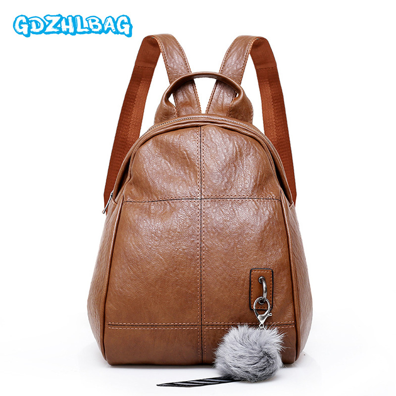 Women Mini Backpacks Fashion PU Leather Shoulder Bag Small School Bags for Teenager Girl Bag Travel Backpack female 2018 b293 doodoo fashion streaks women casual bear backpacks pu leather school bag for girl travel bags mochilas feminina d532