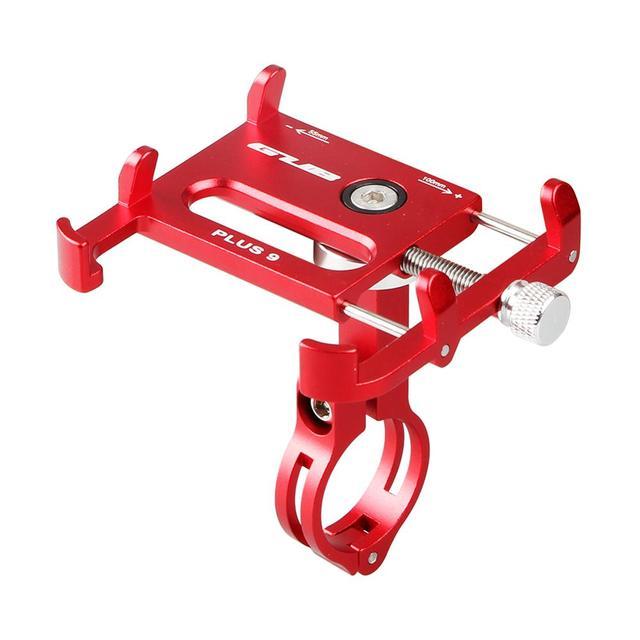 금속 CNC 휴대 전화 홀더 360 회전 자전거 전화 스탠드 오토바이 자전거 핸들 3.5 6.2 인치 스마트 폰