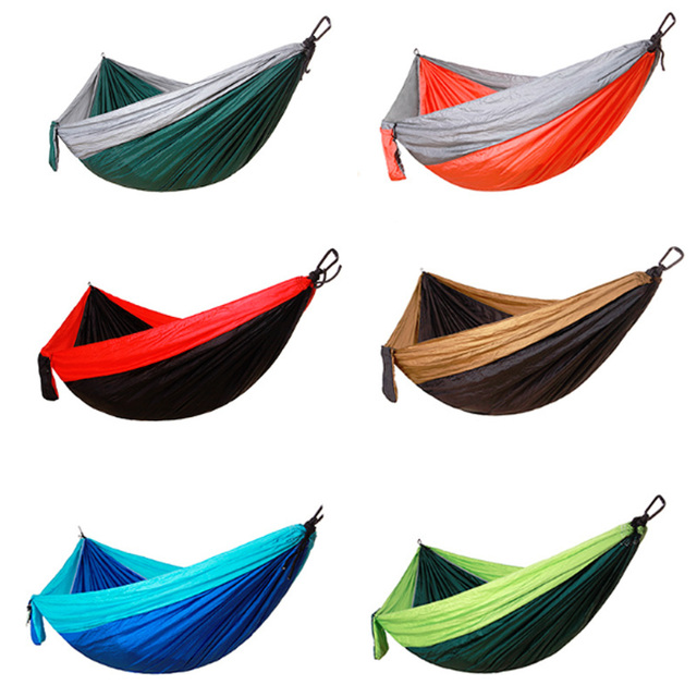 Portable Single Double Hammock Camping Survival Garden Swing Adult Outdoor Travel Survival Hunting Portable Sleeping Bed&Chair