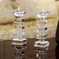 Wedding Candelabra Crystal Candlestick Candles Decorations Home