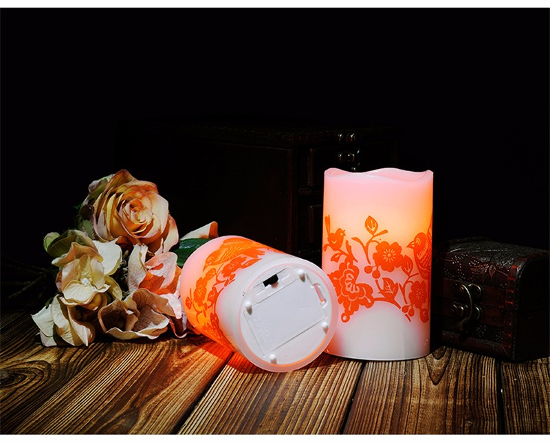Led Electronic Candle Light Wedding Romantic Decoration Znicz Bougie D Coratives Wax Flameless Pillar Candles Home Decor DDZ281 27