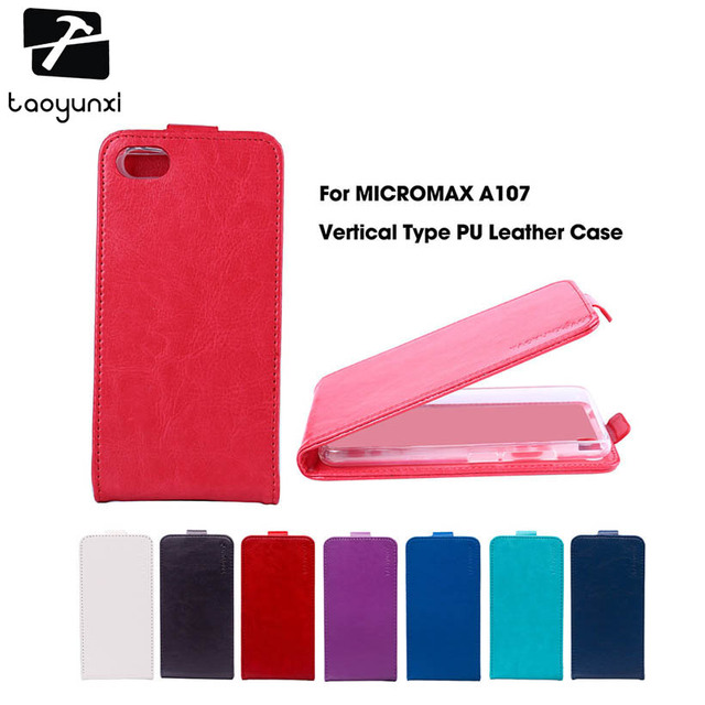 TAOYUNXI Magnetic Flip PU Leather Case For Micromax A107 Case For Micromax Canvas Fire 4 A107 4.5 inch Cover