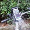 3.5-6.2 polegada bicicleta à prova d' água saco caso com titular de montagem para samsung iphone motocicleta bicicleta suporte do telefone móvel telefone apoio