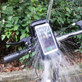 3.5-6.2 pulgadas de la bici impermeable bolsa caso con titular de montaje para samsung iphone bicicleta de la motocicleta soporte para teléfono móvil teléfono apoyo