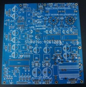 LITE high-end pcb DAC-50 decoder board PCB PCM63 chip 6922 tube output