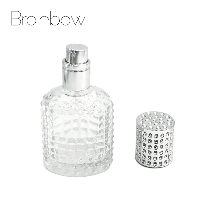 Brainbow 30ML Refillable Bottle Travel Portable Empty Perfume Bottle Glass Atomizer Bottle For Spray Scent Pump Diamond Cover 1 pc new 5 ml amazing travel perfume atomizer refillable spray empty perfume bottle easy used aluminum glass mini scent bottle
