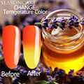 Natural pure Healthy brand-Lavander extracted nail polish Temperature Thermal Color Change lamp to cure chameleon