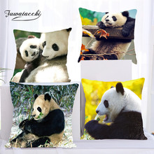 Fuwatacchi Panda Cushion Cover Animal Print Throw Pillow Covers Sofa Car Seat Family Home Decorative Case New 2019