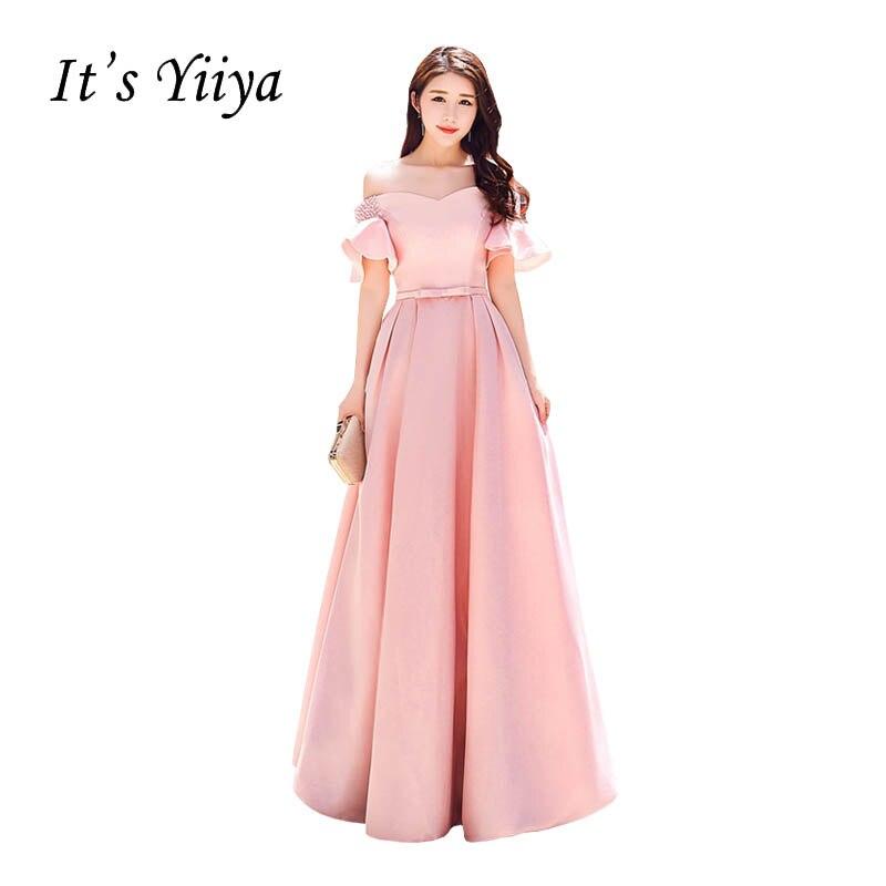 Es yiiya Rosa volantes tafetán del arco vestido de fiesta Vestidos ...