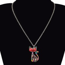 Maxi Enamel Cat Necklaces