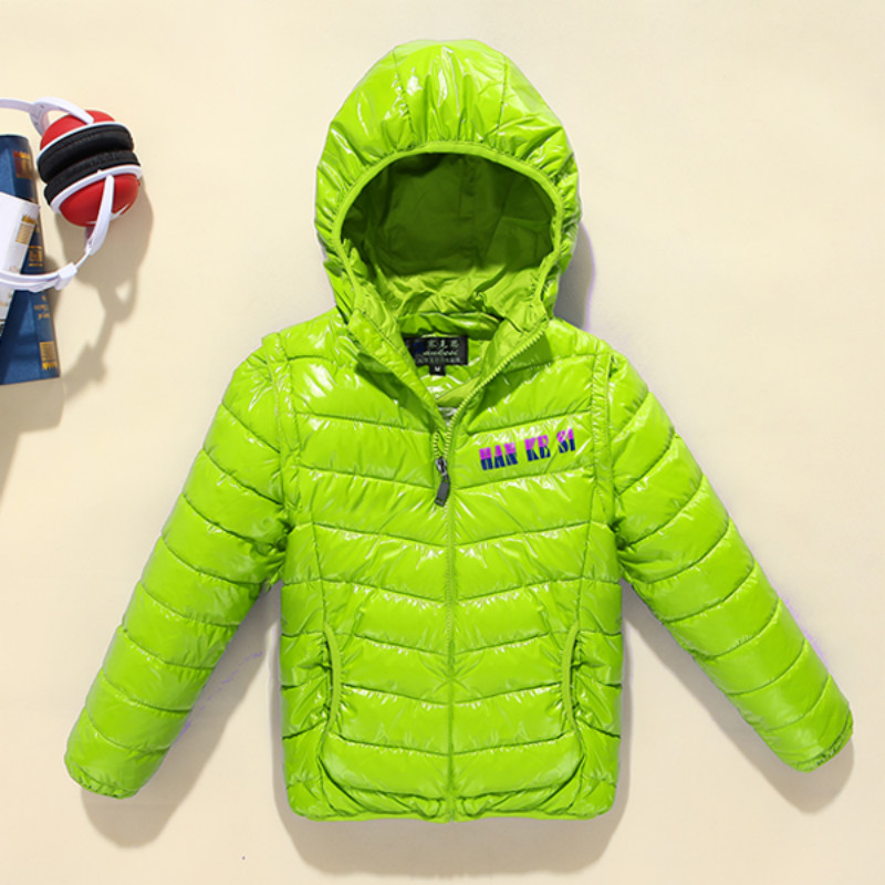 96% cotton-padded boys' jacket 2017 new fashion ultra light children coat children down&parkas candy color duck down outerwear