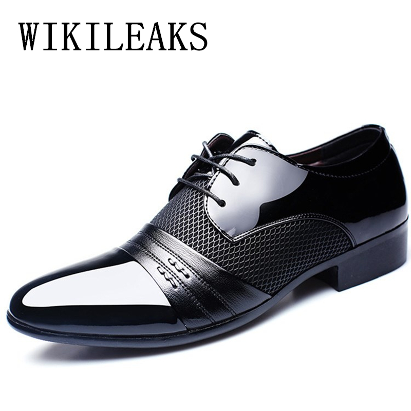 men patent leather dress shoes oxford wedding shoes mariage designer italian mens shoes large sizes luxury brands derbies shoes