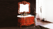 brown and glaze oak, purple stripes white thickening marble cabinet and mirror, Bathroom Vanities
