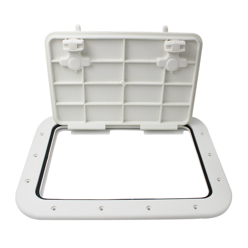 Non-slip Marine Deck Access Hatch Lid ABS Plastic Boat Accessories Marine  16.7 X 12.4 X 0.8 Inch White