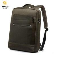 YINUO 13 15 ноутбук Бизнес рюкзак, водонепроницаемость рюкзак Для мужчин Натуральная сумка для ноутбука MacBook Планшеты Тетрадь 13.3 14 15.6