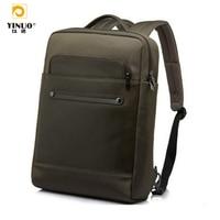 YINUO 13 15Laptop Business Backpack,Water Resistant Knapsack Men Genuine Laptop Bag For Macbook Tablet Notebook 13.3 14 15.6