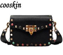 Rivet Mini Flap Shoulder Crossbody Bag Designer Brand Ladies Clutch Hand Bag High Quality Cross Body Bag Women Messenger Bag