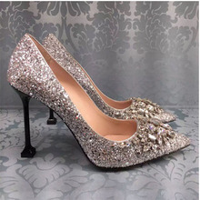 Women Pumps Sexy High Heels Women Shoes Thin Heels Female Shoes Wedding Shoes Sliver 6cm Ladies Shoes women pumps extrem sexy high heels women shoes thin heels female shoes wedding shoes sequins gradient color hollow ladies shoes