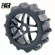 RC car 1/8 desert SUV tire wheel 17mm Hex Hub Desert Snow Tires Set Tyre Wheel Rim For HPI HSP Traxxas Buggy Model Car Truck