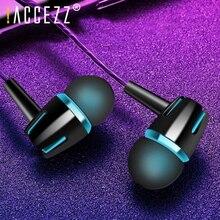 ! ACCEZZ ב אוזן אוזניות עבור iPhone 6s 6 5S Xiaomi סמסונג Huawei 3.5mm שקע אוזניות ספורט אוזניות בס סטריאו אוזניות עם מיקרופון