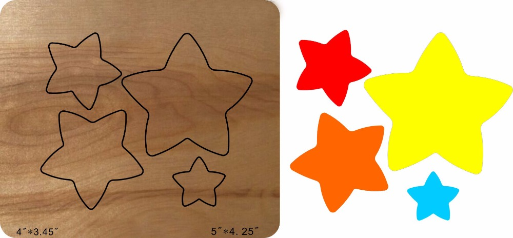 Five-pointed star Wooden Die Fits MY, New