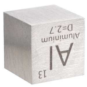 Image 5 - 1pcs 99.99% High Purity Aluminum Alloy Element Cube 10mm Metal Density Cubes Carved Element Periodic Table Cube