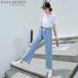 Женские летние джинсы брюки Горячая Распродажа 2018 свободные джинсы Широкие брюки с высокой талией манжеты повседневные мешковатые брюки