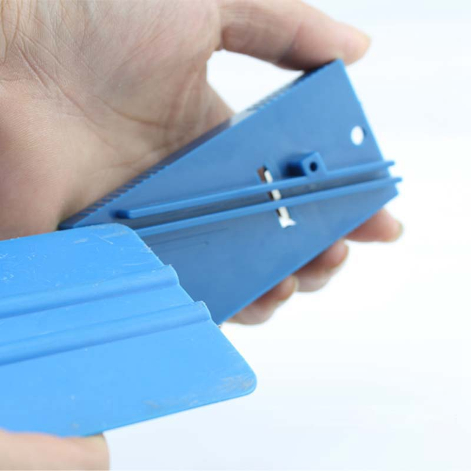 4.5*9.5cm Scraper Repair Tool Plastic Blue Squeegee Trimmer Hard Card Sharpening Tool For Vinyl Application MO 126-in Car Stickers from Automobiles & Motorcycles