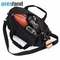 Aresland Black Men's Lightweight Waterproof Folding Round Duffel Shoulder Bag Handbag Travel Bag S/L