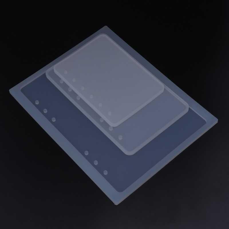 قالب من السيليكون لتقوم بها بنفسك الحرف دفتر على شكل A5A6A7 مرآة صنع المجوهرات كتاب الراتنج