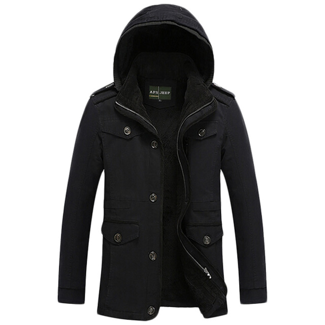 Бесплатная доставка 2017 AFS JEEP Зимние мужская Одежда Бренд Куртки Хлопка Мужская мода Человек Зимние Куртки Человек Теплое Пальто 128hfx