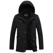 free shipping 2017 AFS JEEP Winter Men's Clothes Brand Jacket Cotton Mens fashion Man Winter Jackets Man Warm Coat 128hfx