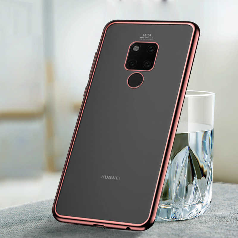 Electroplate Plating Soft TPU Case for Huawei Mate 20 Lite P20 Mate 10 Pro Y9 2019 P Smart P10 Plus Mate 20 X Mate 10 Lite Capa