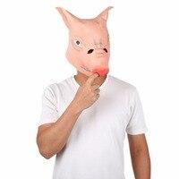 Peradix Unisex Porco Cabeça Cosplay Festa Halloween Costume Prop Cabeça Cheia Máscara de Cabeça Para Kid Adulto