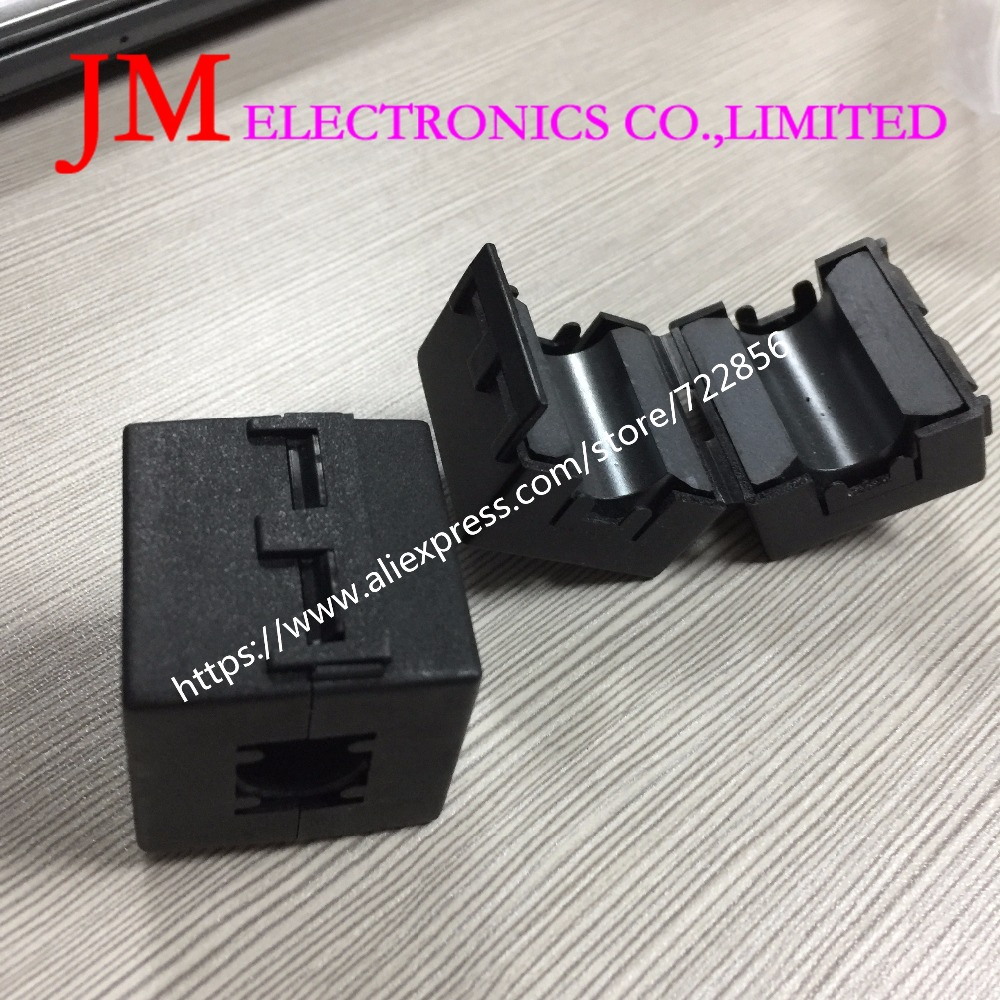 14Mm Inner Diameter Black Clip On Emi Rfi Noise Ferrite Core Filter uf140 toroidal transformer 32mm inner diameter ferrite core as200 125a black