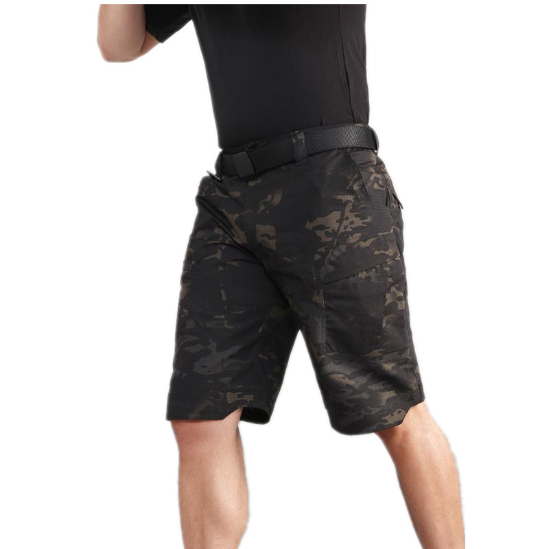 Military Tactical Shorts Men Summer Cargo Shorts Quick Drying Lightweight City Army Camouflage Combat Shorts