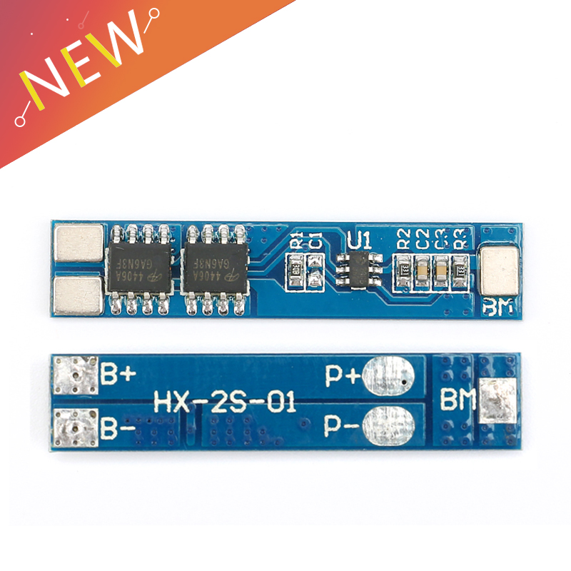 1Pcs 2 S 5A 7.4V/8.4V 18650 Lithium Battery Charger Board Li-ion Battery Charging BMS Over Charge-Discharge Protection Module