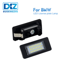DXZ 2X LED License Plate Lights Lamps Bulbs 24 SMD White Fit For BMW E82 E90 E92 E93 M3 E39 E60 E70 X5 F20 E88 Error Free 6000K error free led license plate light for bmw e82 e88 e90 e92 e39 e60 e61 m5 sedan e70 x5 e71 e72 x6 5 series