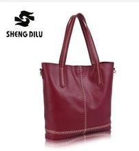 Einfache Und Leicht Mode frauen Marke Elegante Verbund Taschen Hochwertigem Echtem Leder Umhängetaschen Mehrzweck Damentasche
