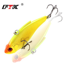 Купить с кэшбэком FTK Professional Multicolor Hard Minnow Crankbait 1pcs/lot 75mm 16.5g Depth 2m Quality  Floating Sinking Swim  Fishing Wobblers
