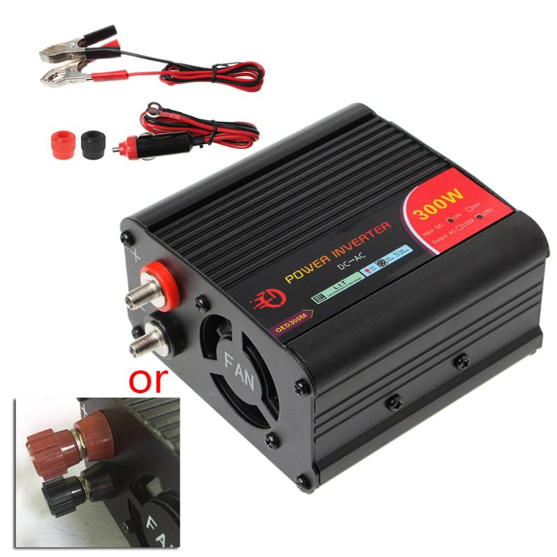 Image 2 - 300W Power Inverter Converter DC 12V to 220V AC Cars Inverter with Car Adapter-in Car Inverters from Automobiles & Motorcycles