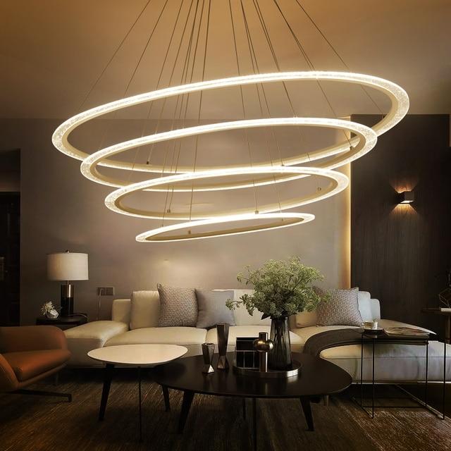 Moderno LED Anelli Lampadari a Sospensione per soggiorno Villa ...