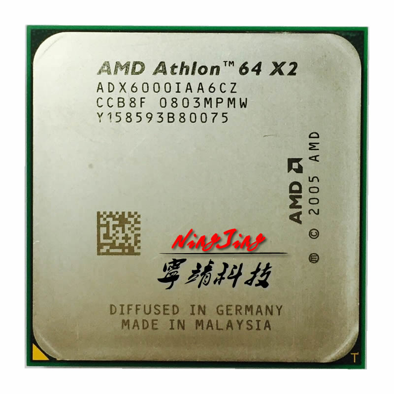 US $15 88 |AMD Athlon 64 X2 6000+ 6000 3 GHz Dual Core CPU Processor  ADX6000IAA6CZ Socket AM2-in CPUs from Computer & Office on Aliexpress com |