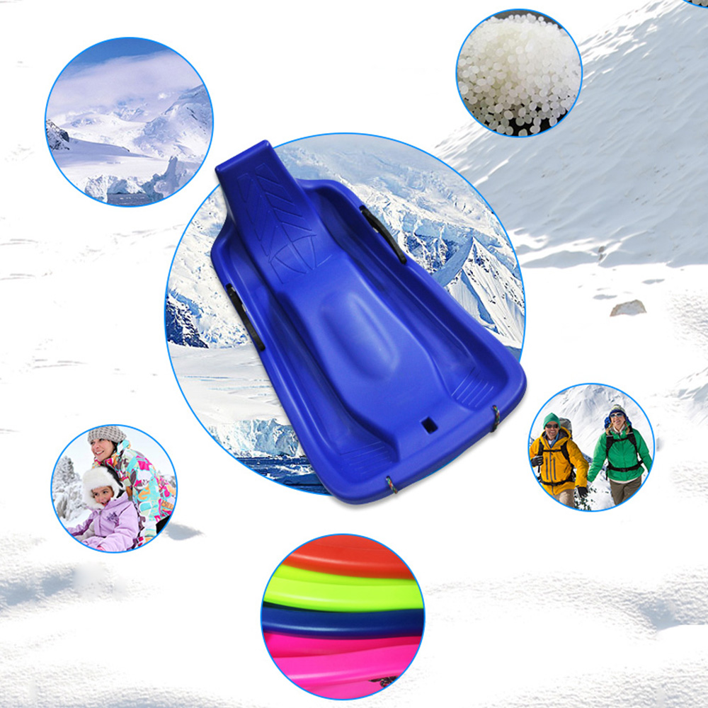 Sports de plein air planches de Ski en plastique Luge neige sable herbe planche Ski Pad Snowboard avec corde frein fonction 4 couleurs - 4