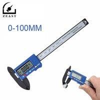 Calibrador Vernier Digital de compuestos de fibra de carbono de alta precisión de 100mm  calibrador de calibre  regla panorámica de 0 1mm  medición precisa