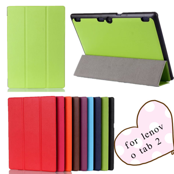 Tab 2 A10-70F case Ultra thin Smart Stand leather case for  Lenovo Tab 2 A10-70F A10 70f 10.1 tablet case +screen protectors
