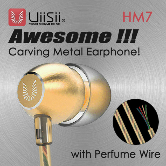 100% Original UiiSii HM7 Metal In-ear Earphone Super Bass DJ Stereo music Headset with Mic  3.5mm for iPhone /xiaomi Phone PC 5